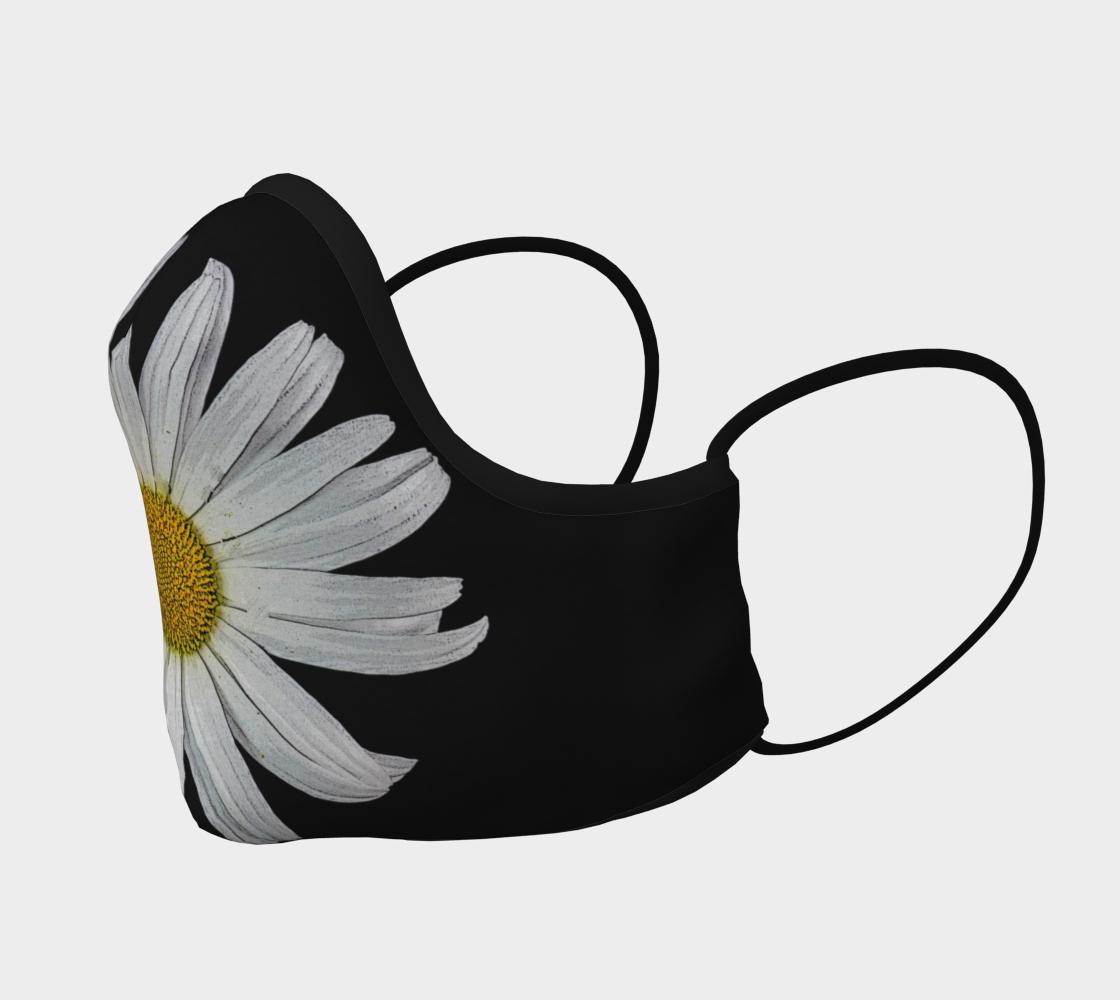 Aperçu de Daisy on Black Face Mask  #2