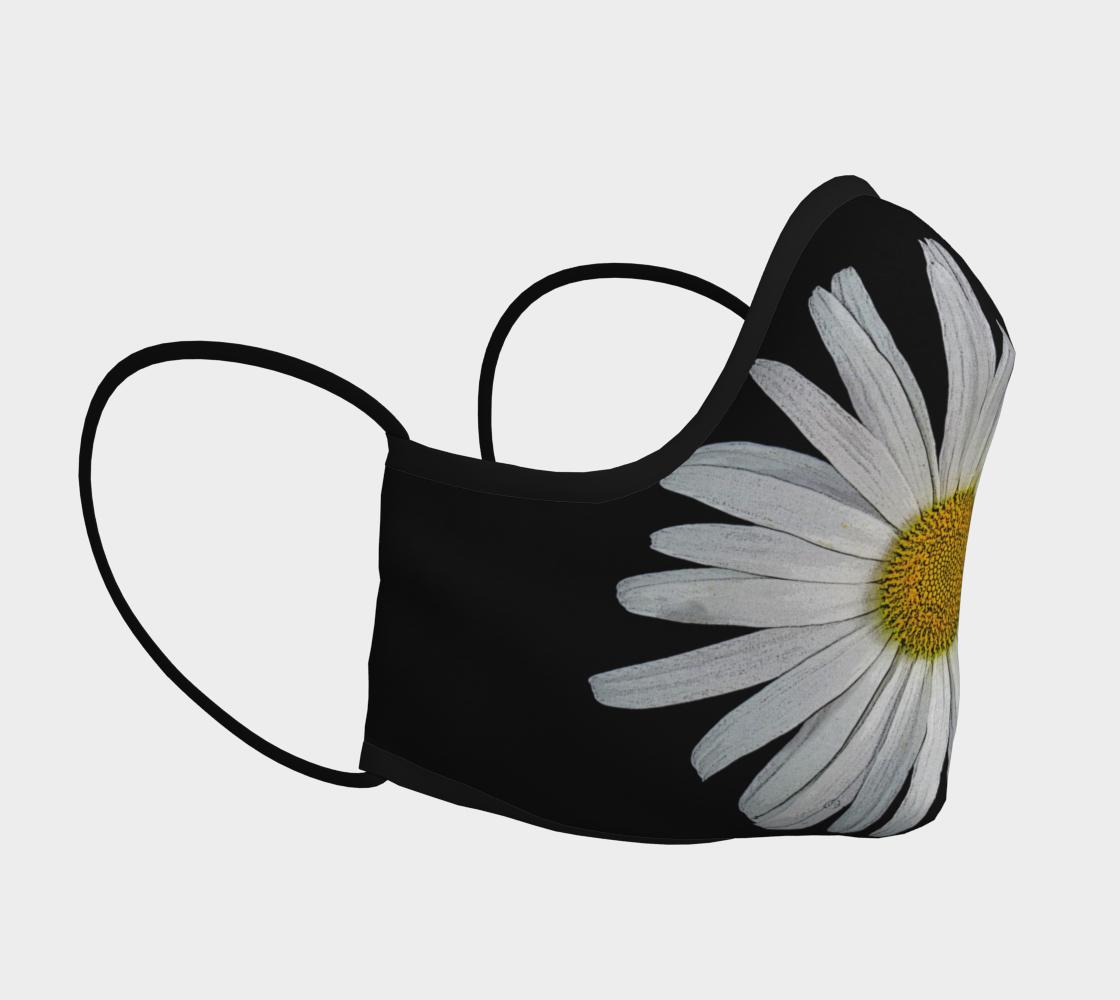 Aperçu de Daisy on Black Face Mask  #3