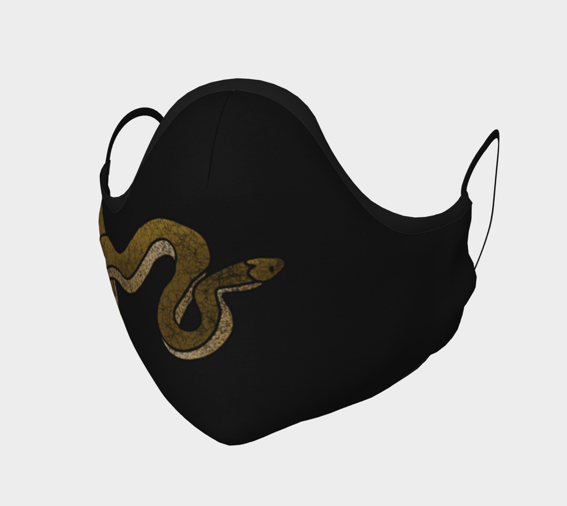 Brown Snake on Black Mask  preview