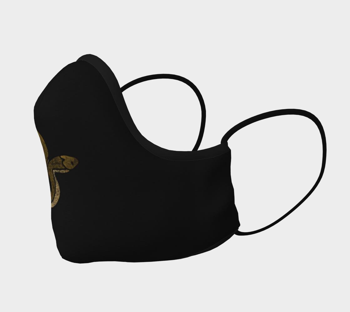 Aperçu de Brown Snake on Black Mask  #2