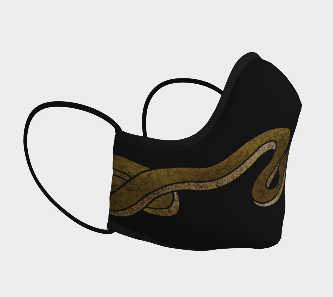 Aperçu de Brown Snake on Black Mask  #3