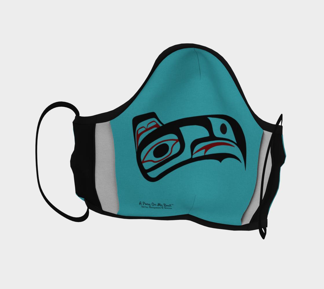 Northwest Art Tlingit Eagle Raven Facemask - Eagle on Reverse Side preview #4
