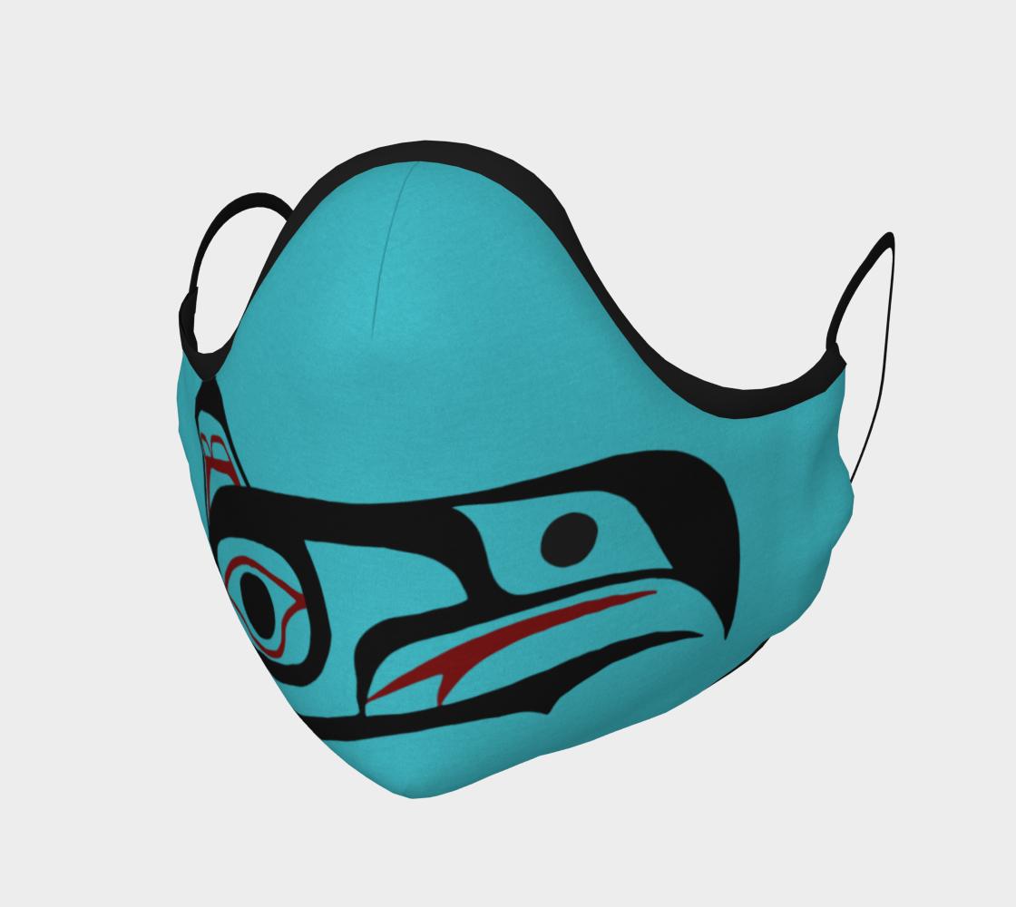 Eagle Northwest Art Tlingit Facemask - Eagle Raven on Reverse preview
