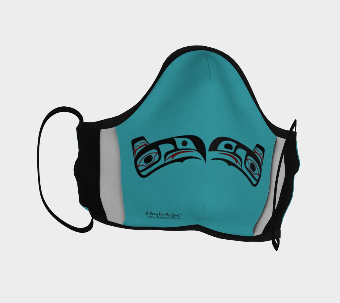 Raven Northwest Art Tlingit Facemask - Eagle Raven on Reverse preview #4