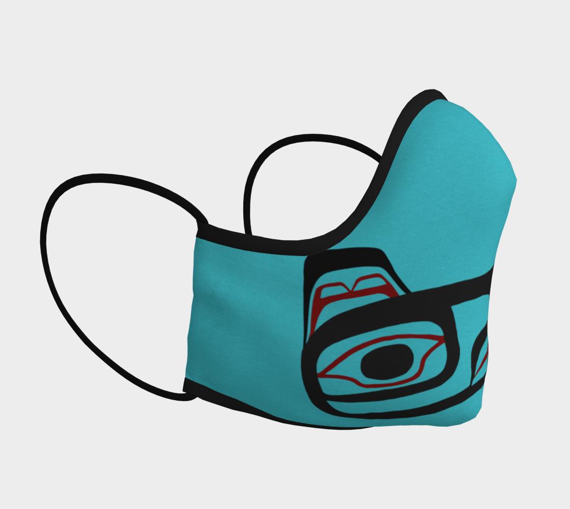 Raven Northwest Art Tlingit Facemask - Eagle Raven on Reverse preview #3