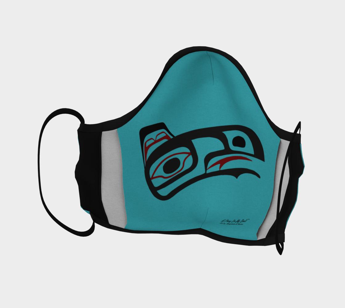 Northwest Art Tlingit Eagle Raven Facemask - Raven on Reverse Side 2 preview #4