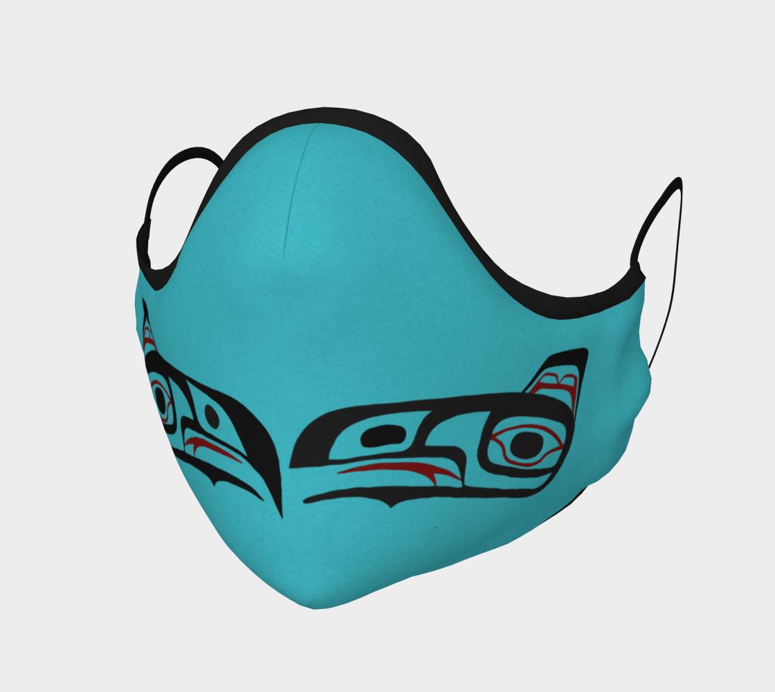 Eagle Raven Northwest Art Tlingit  Facemask Teal on Reverse preview
