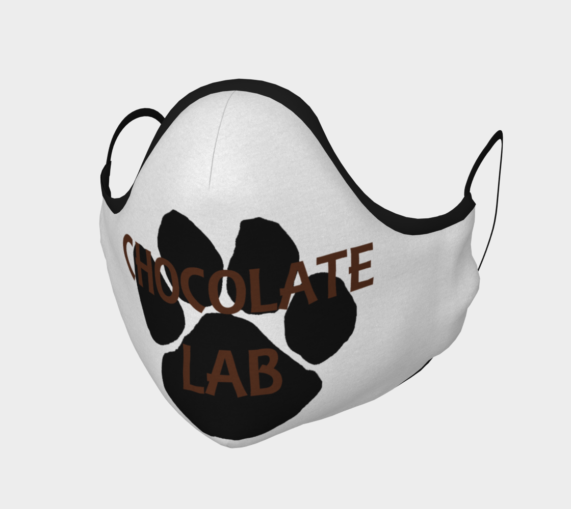 Labrador Retriever chocolate name paw face mask preview