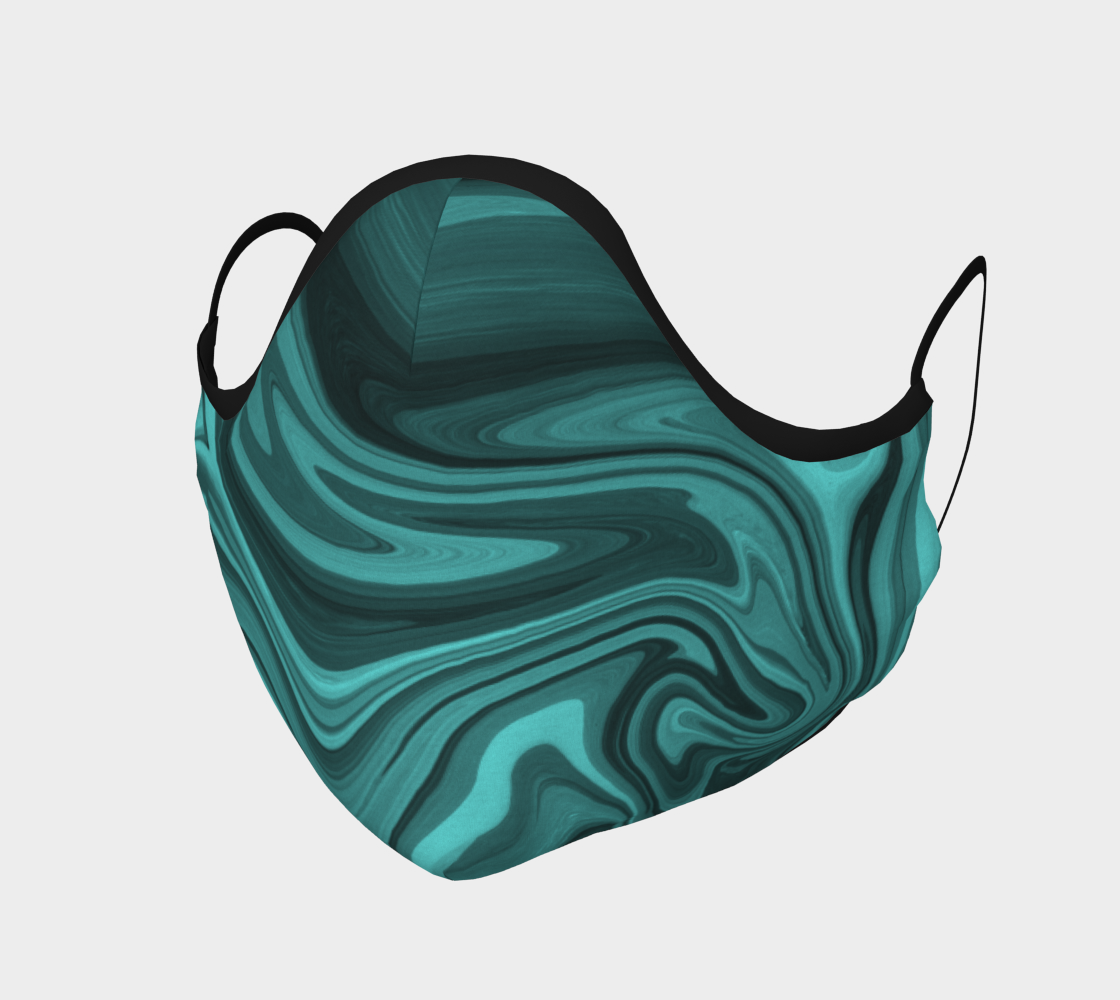 Teal Twirl Face Covering preview