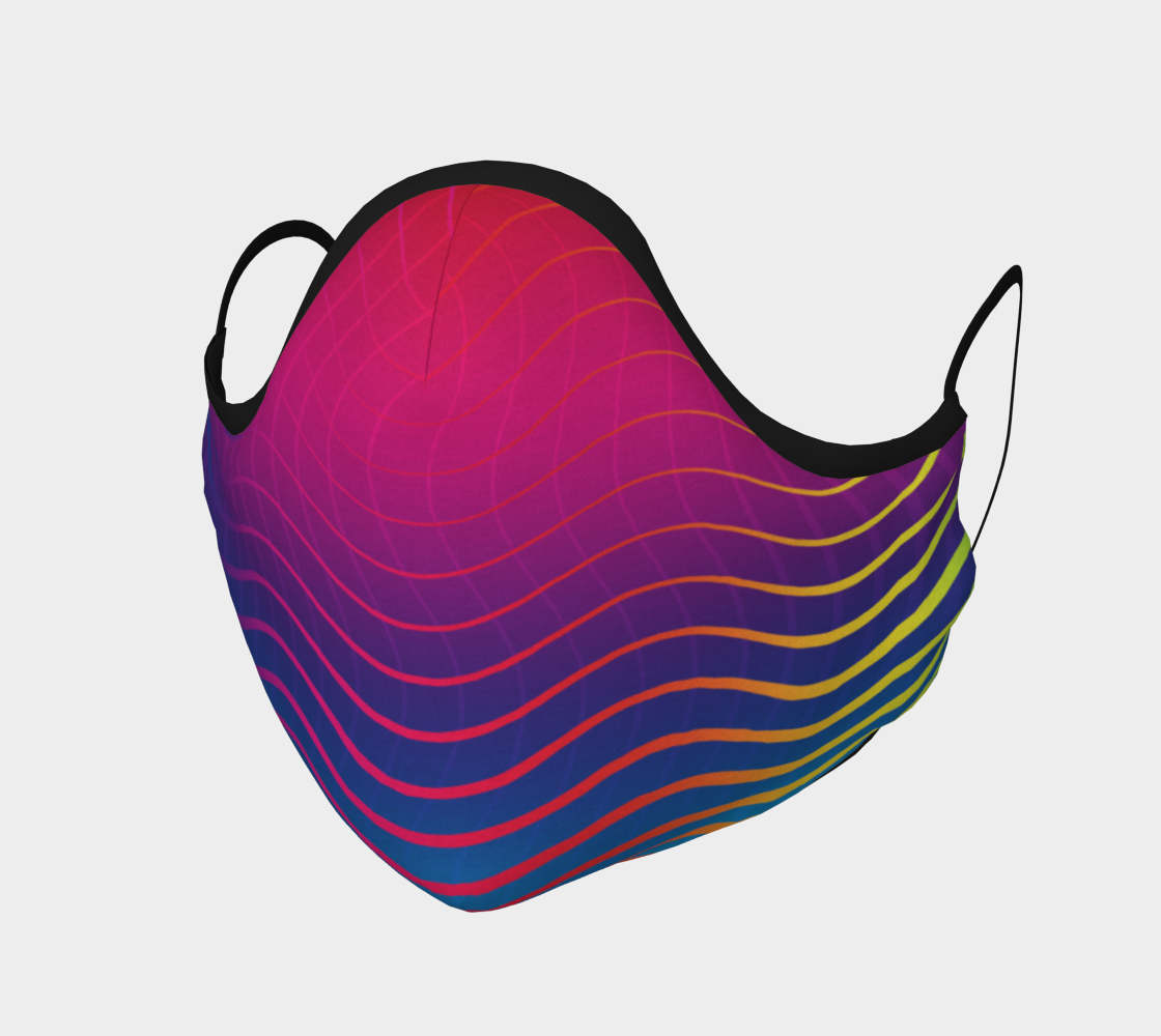 Rippled Rainbow Waves Face Covering preview