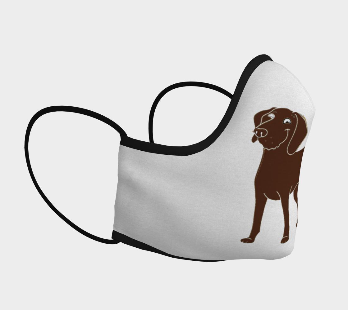 Labrador Retriever chocolate cartoon face covering mask preview #3