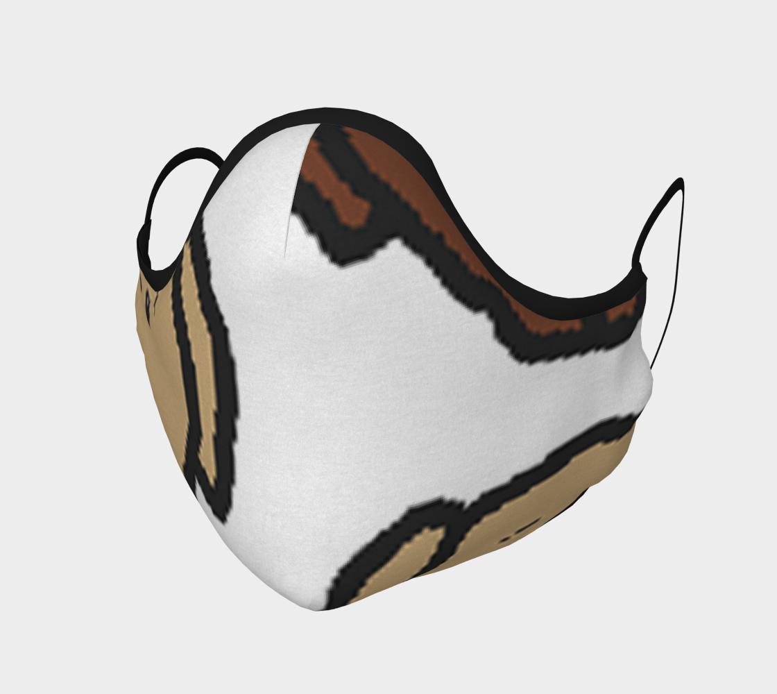 Labrador Retriever all 3 colors cartoon heads face covering mask preview