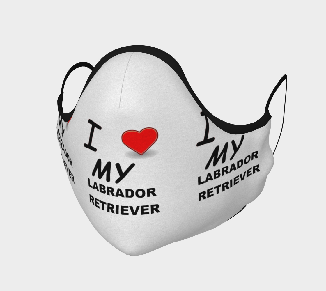 Labrador Retriever love face covering mask preview