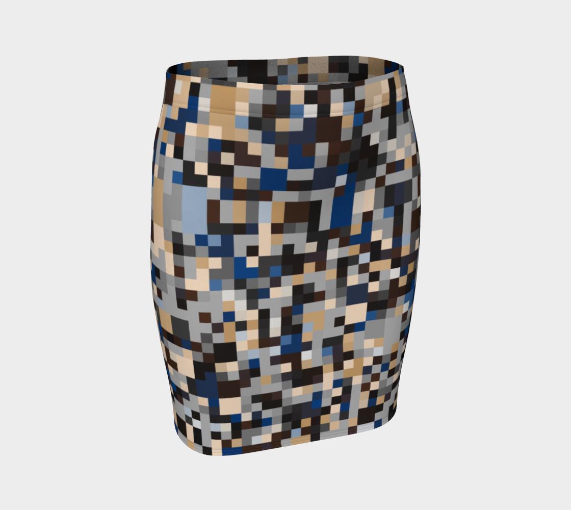 Neutral Colors Pixel Block Print preview