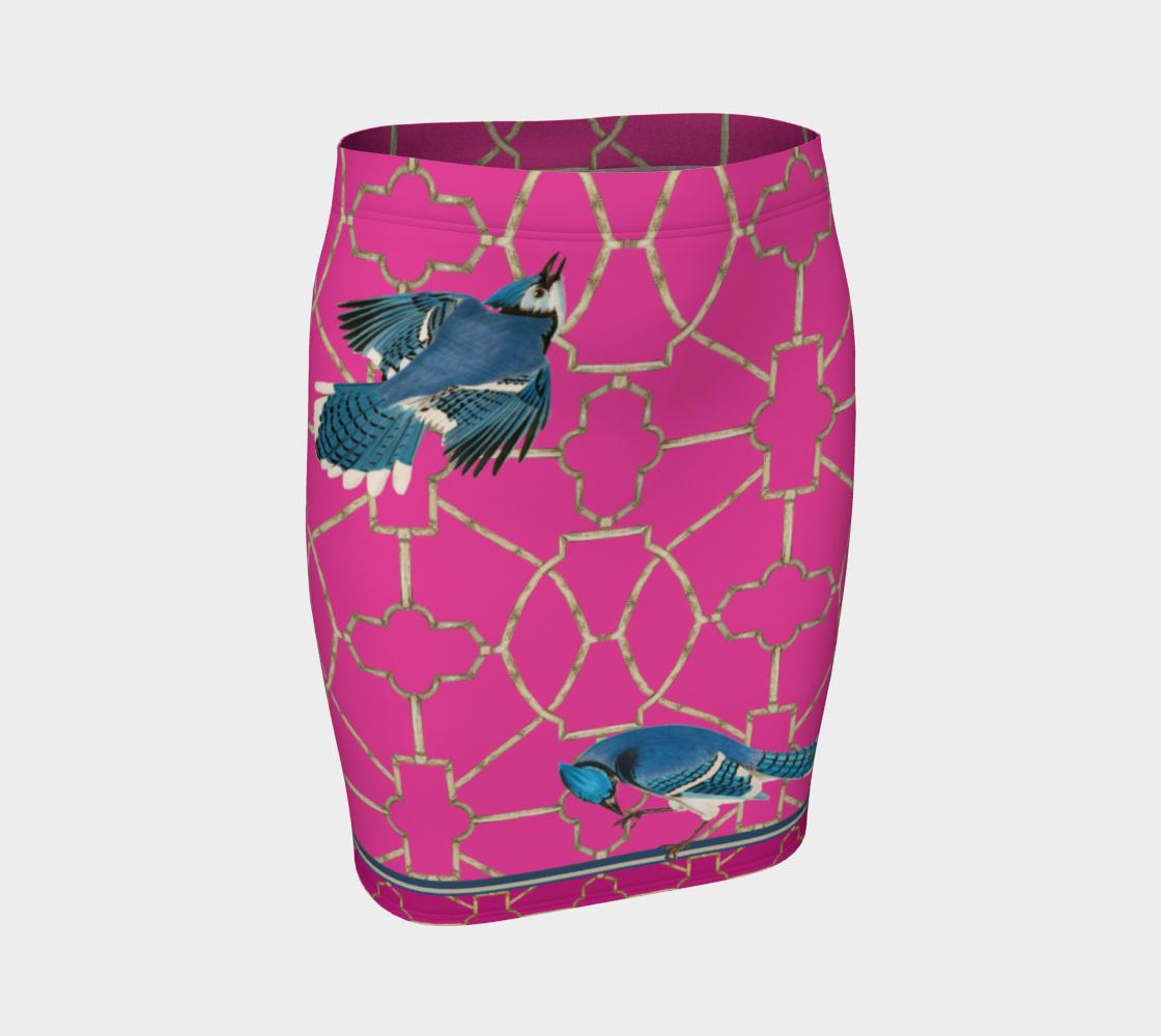Bluebird Hot Pink Trellis Bird Skirt preview