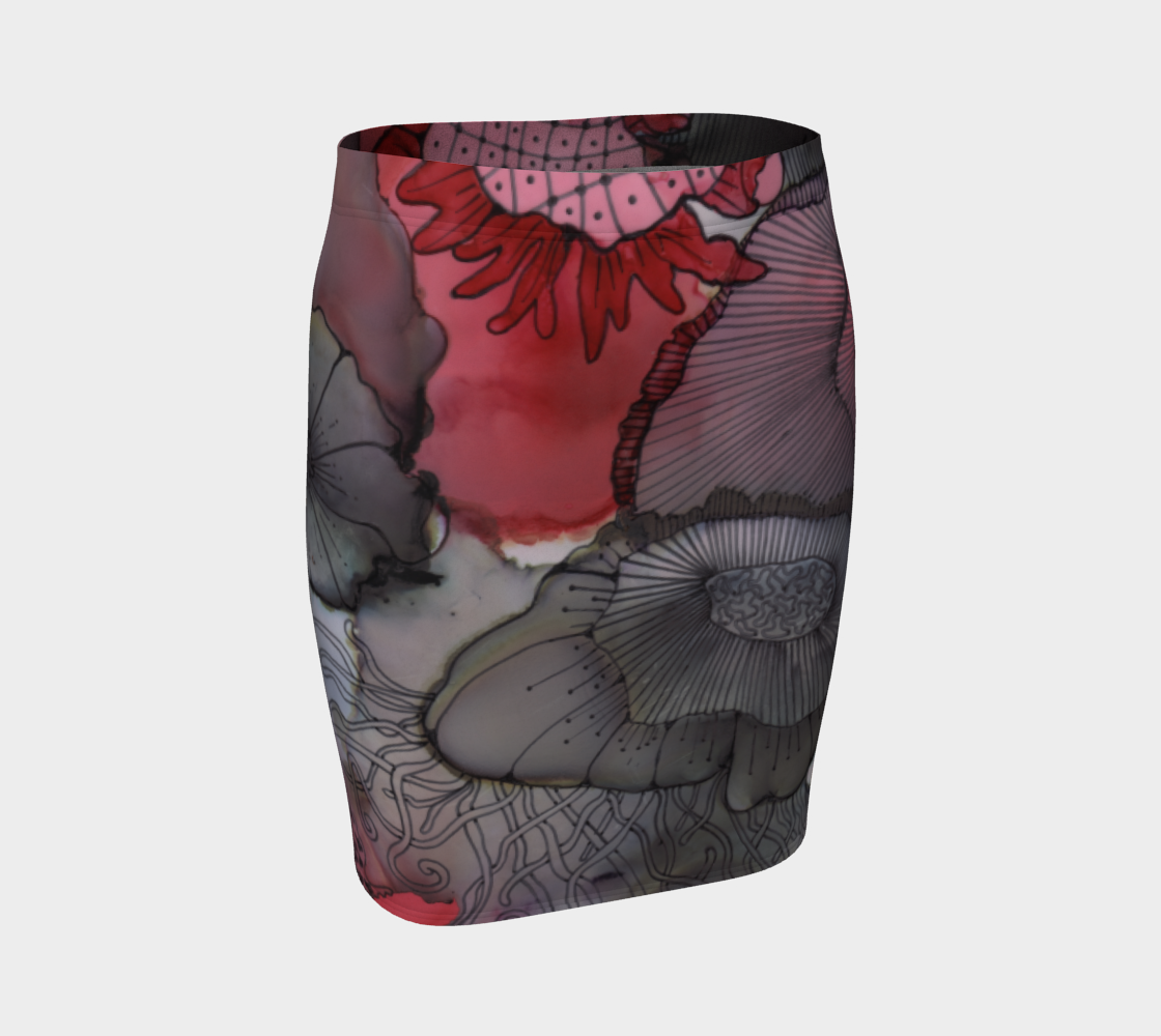 Black RedBerry Fitted Skirt preview