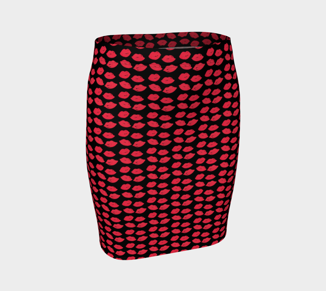 Lips Fitted Skirt preview
