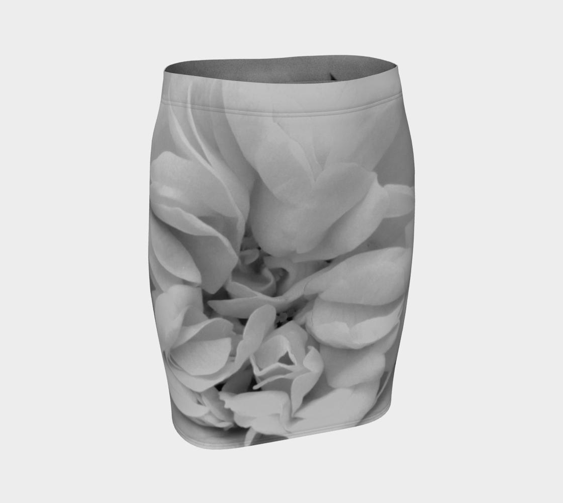 Aperçu de Light Gray Rose Fitted Skirt 170614a