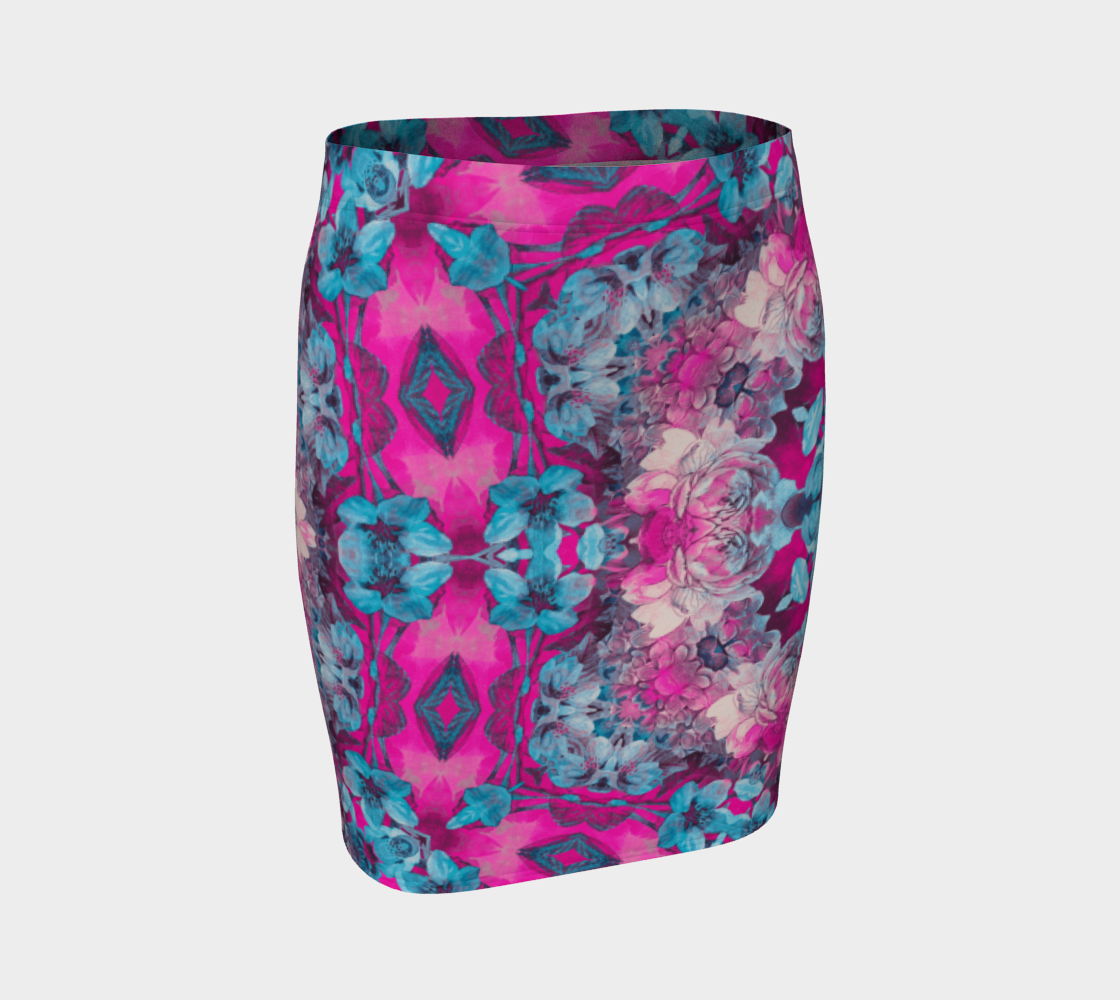Aperçu de pink and blue art #fittedskirt
