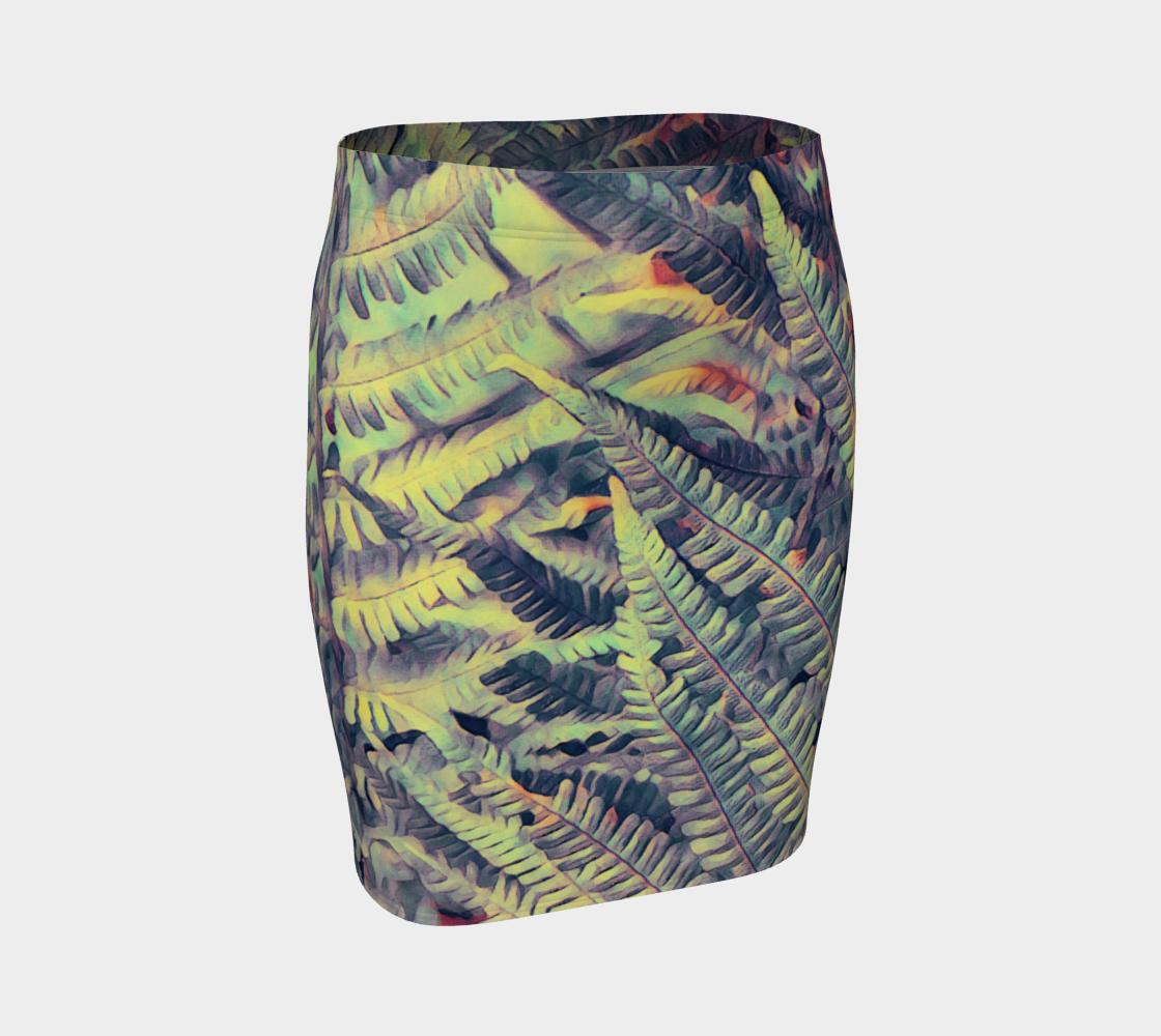 green ferns #fittedskirt preview