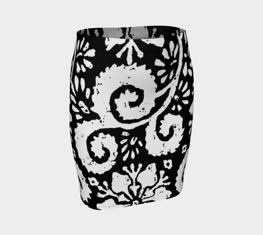 Aperçu de Jupe - Design floral noir
