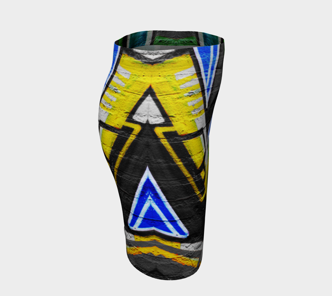 Graffiti 6 Fitted Skirt preview #3