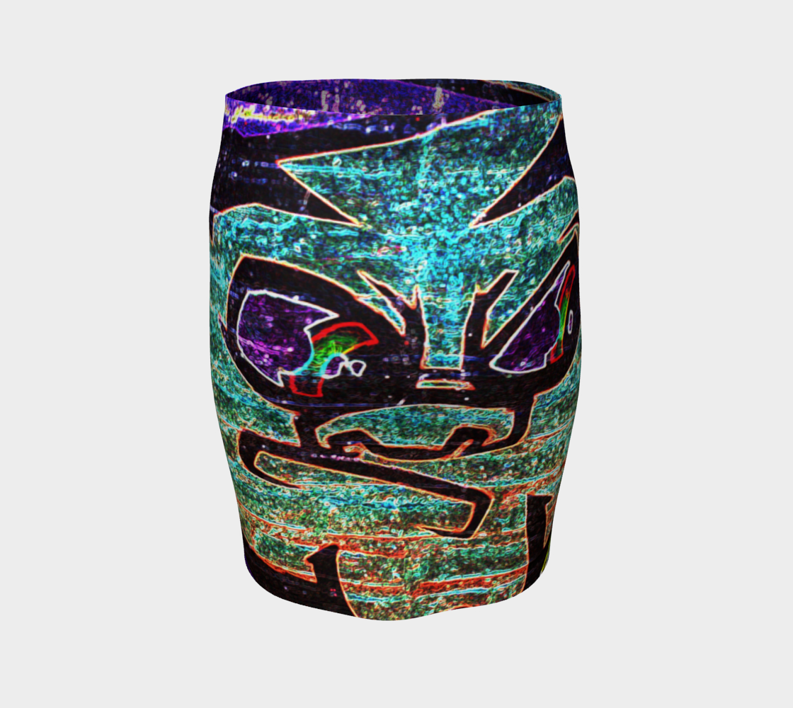 Graffiti 7 Fitted Skirt preview #4