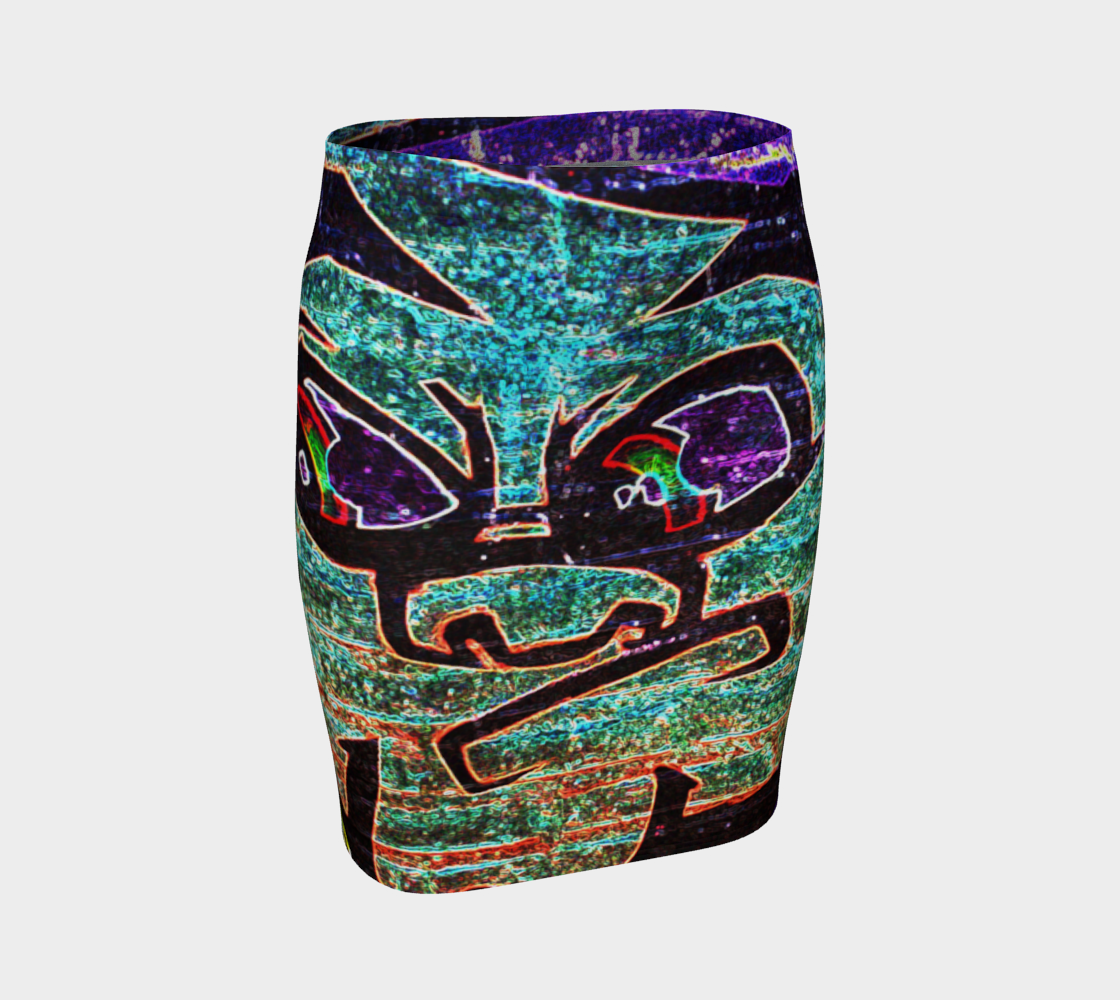 Graffiti 7 Fitted Skirt preview
