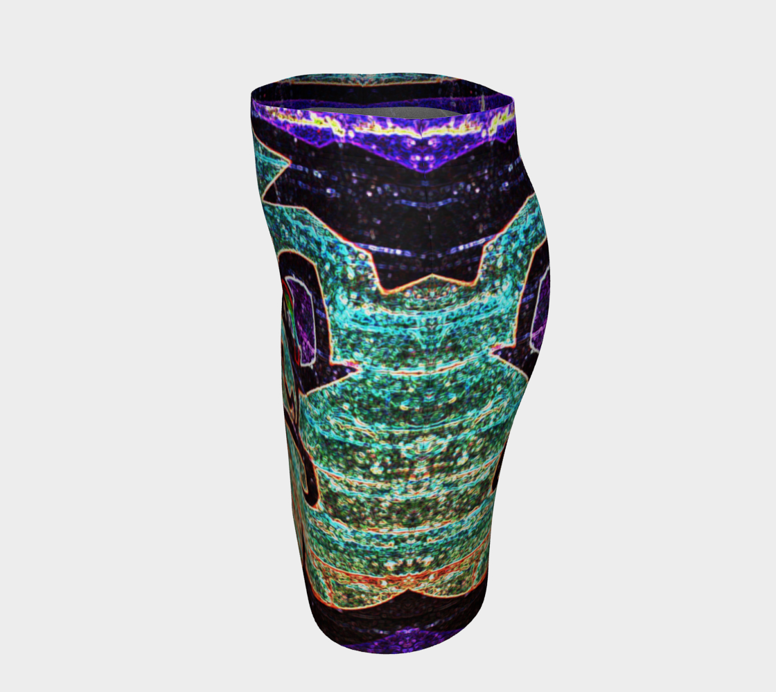 Graffiti 7 Fitted Skirt preview #2