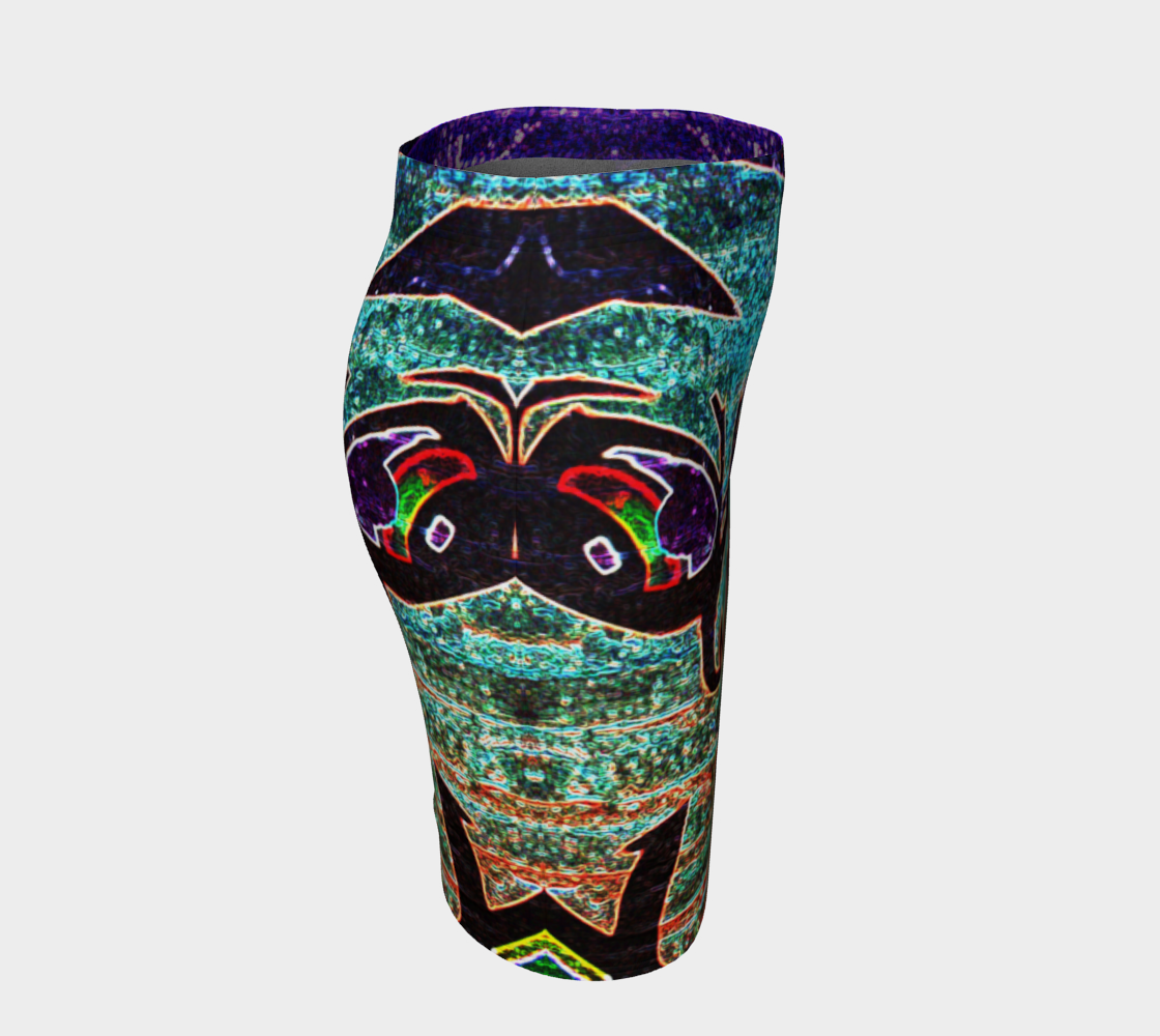Graffiti 7 Fitted Skirt preview #3