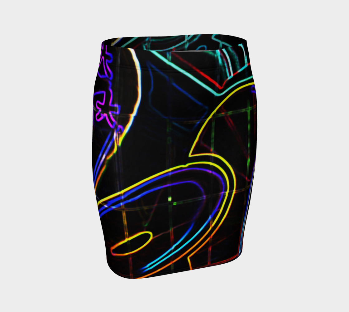 Graffiti 10 Fitted Skirt preview