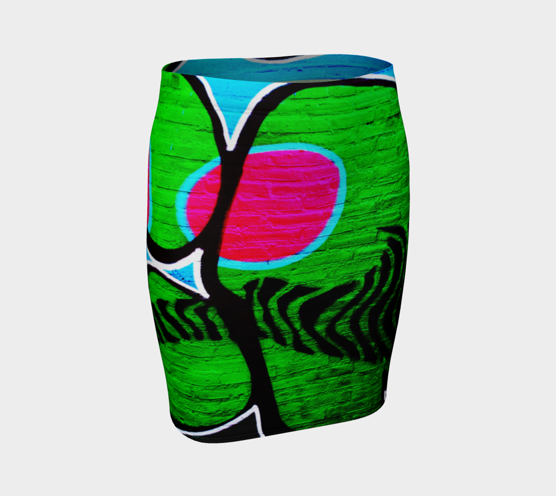Graffiti 12 Fitted Skirt preview