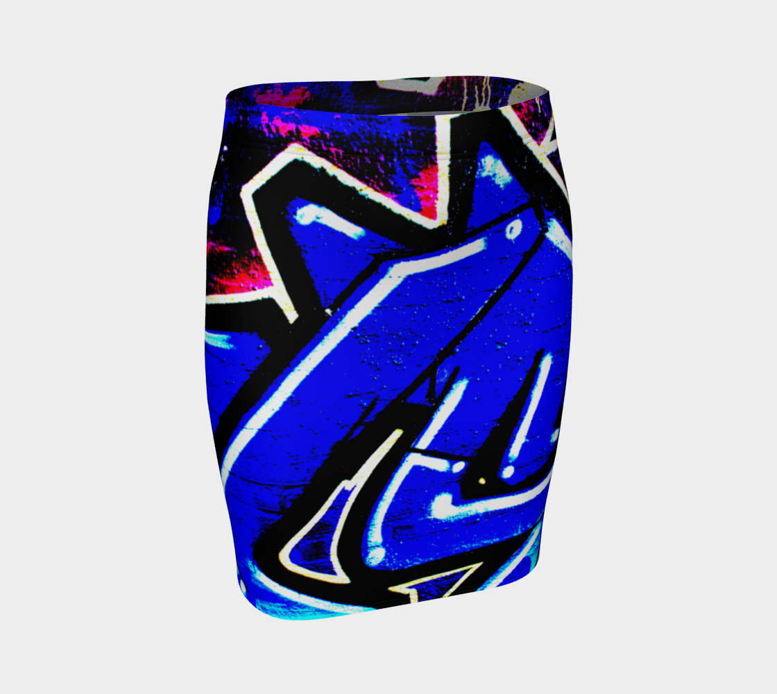Graffiti 13 Fitted Skirt preview