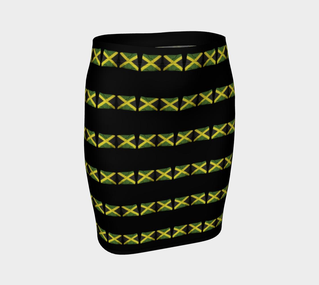 Jamaican Flags Stripe Mini Skirt preview