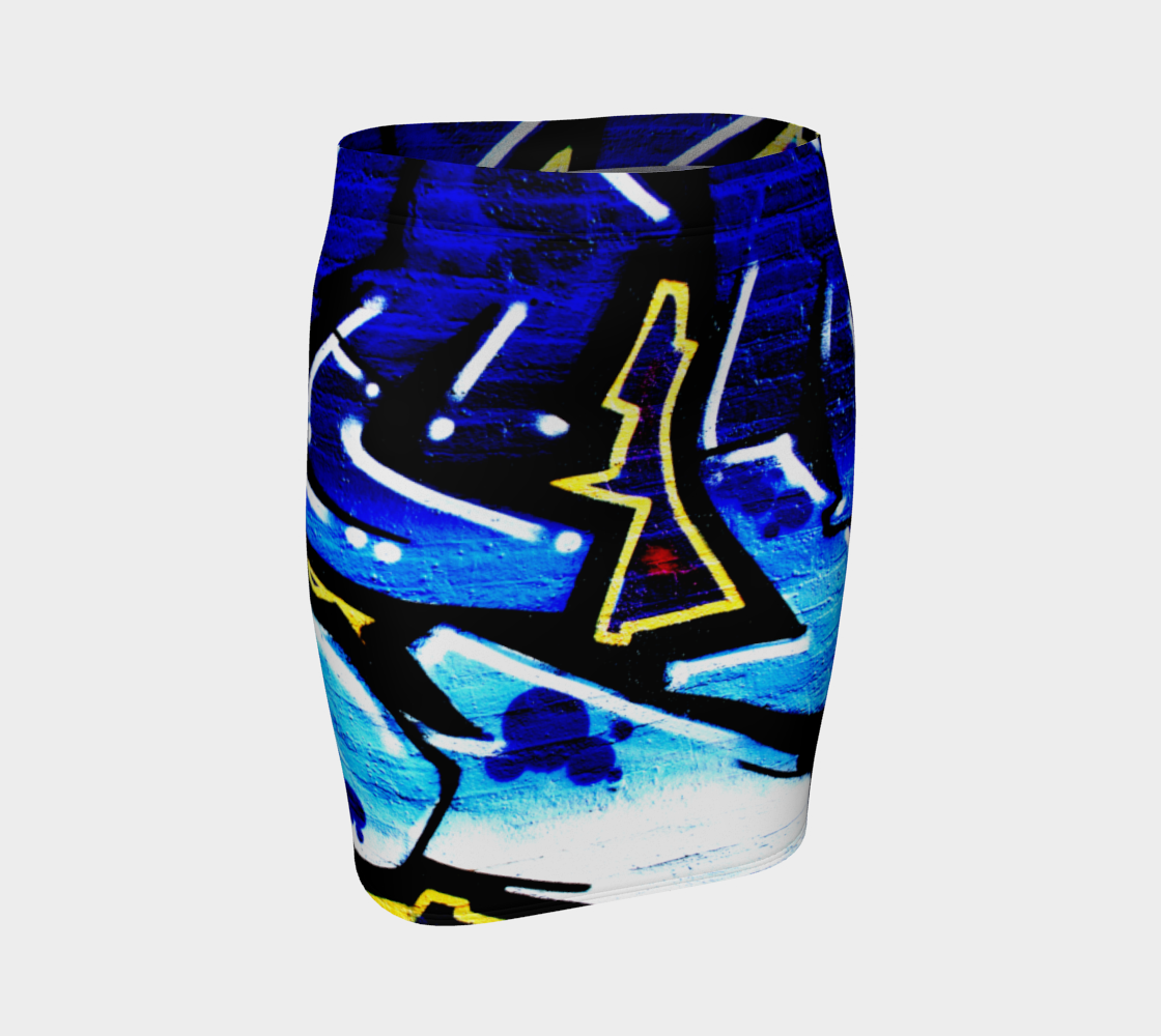 Graffiti 15 Fitted Skirt preview