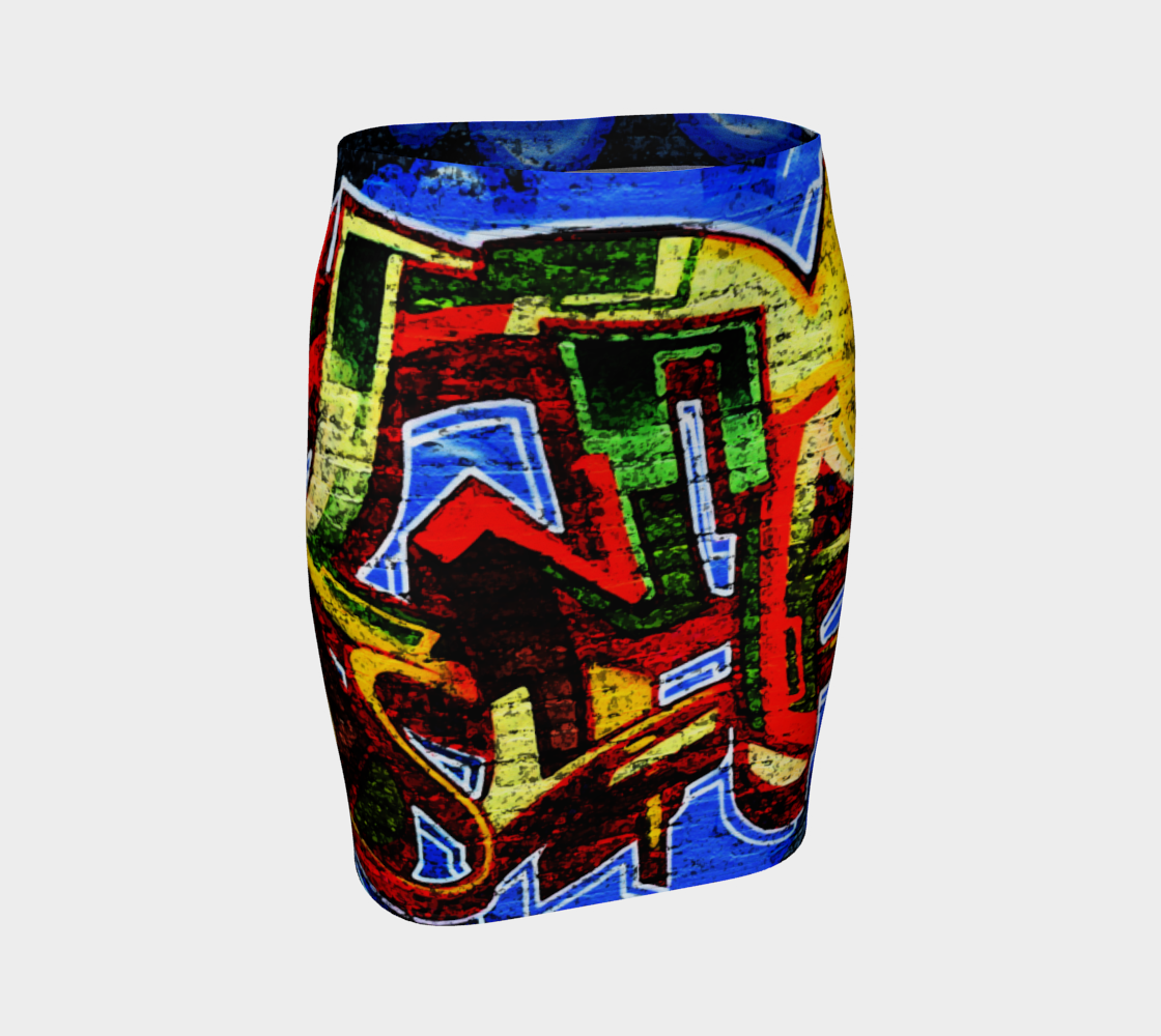 Graffiti 17 Fitted Skirt preview