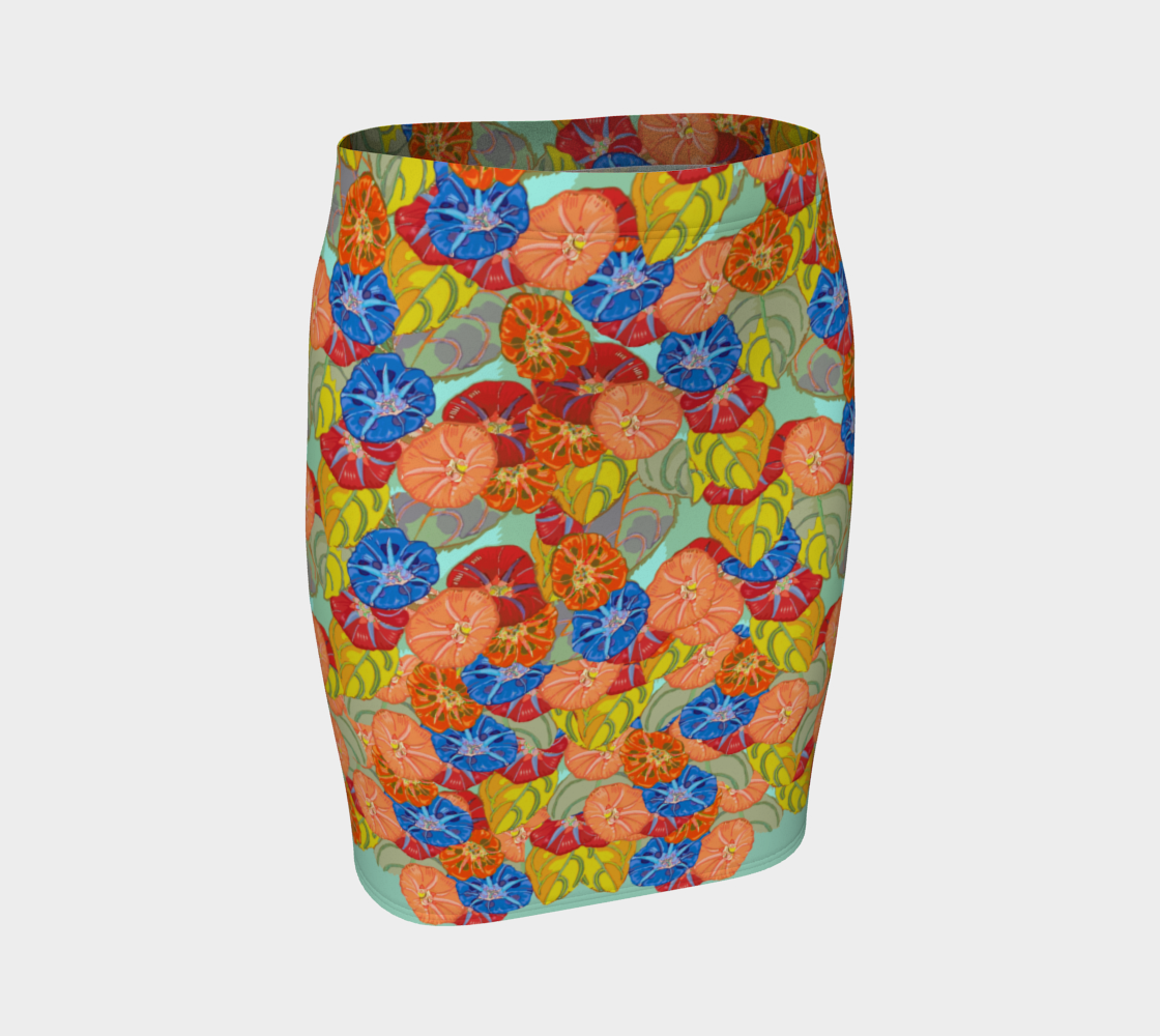 Hot Floral Fitted Skirt preview