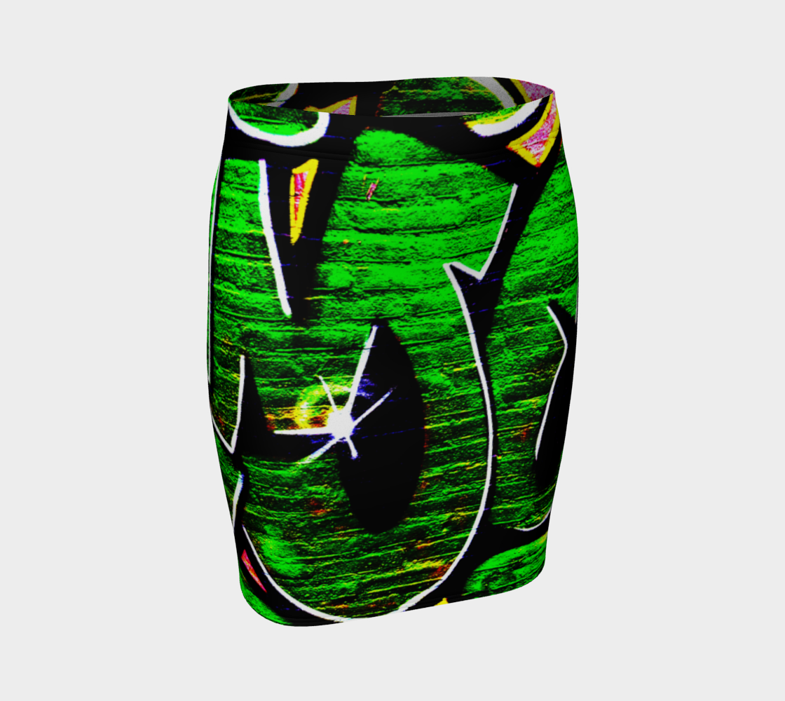 Graffiti 18 Fitted Skirt preview