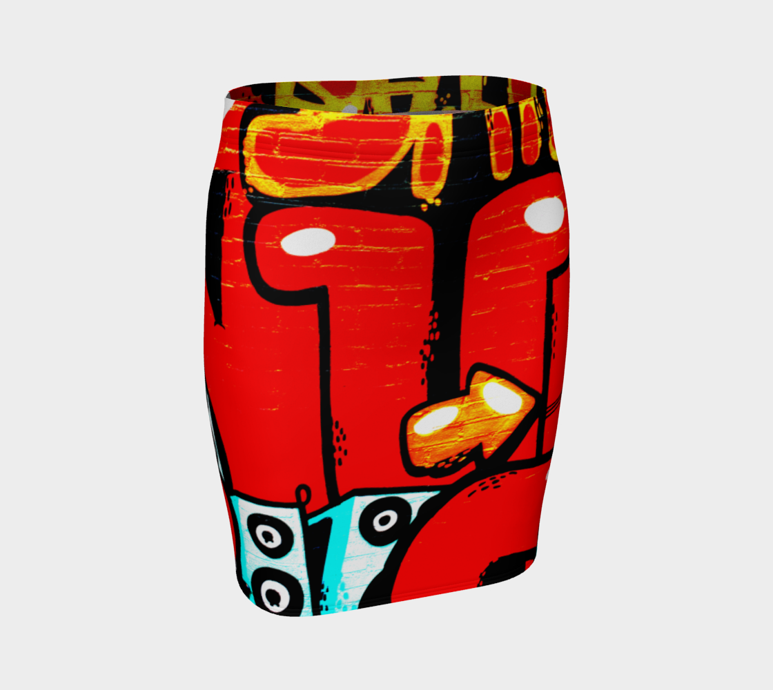 Graffiti 19 Fitted Skirt preview