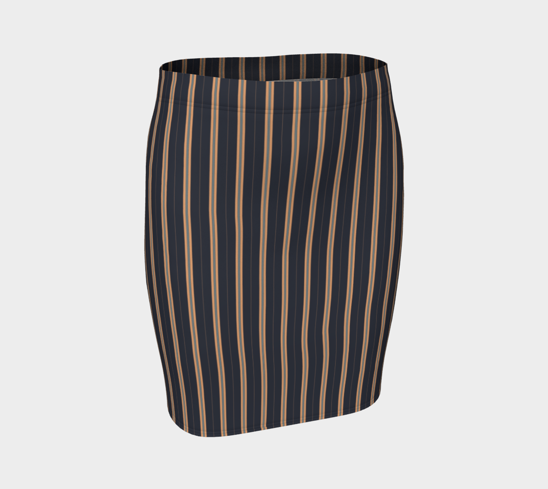 Midnight Apricot Dark Fitted Skirt preview