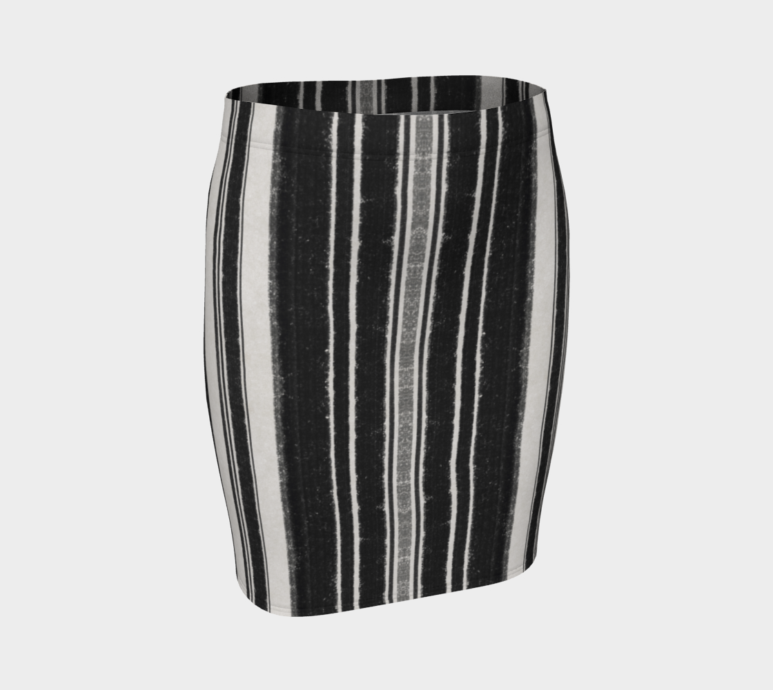 Raven Stripe Fitted Skirt preview