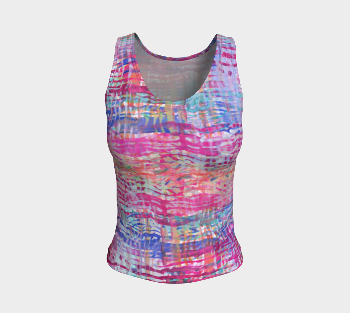 Rainbow Painting Pattern Fitted Tank Top preview
