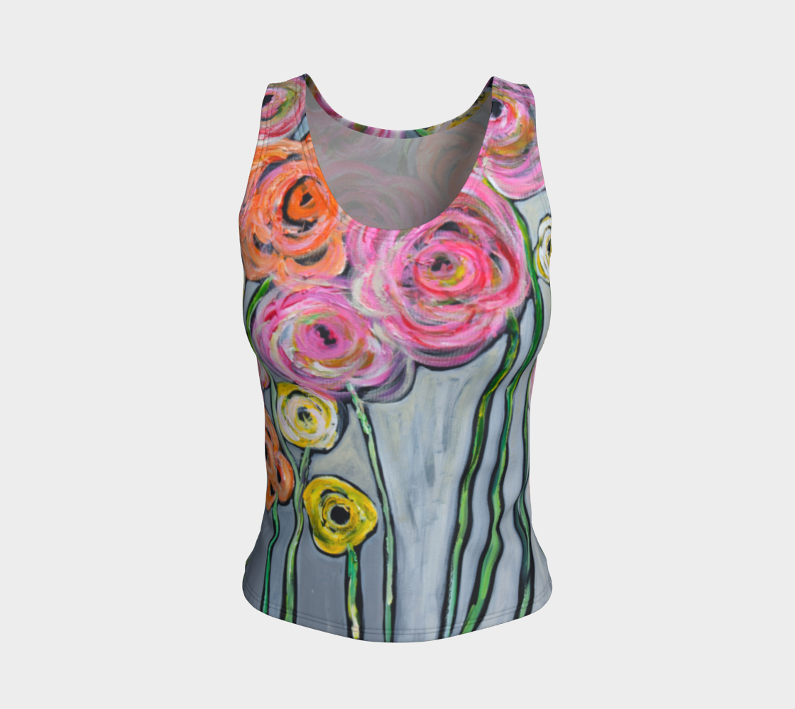Aperçu de Bloom where you are planted  best fitted tank top