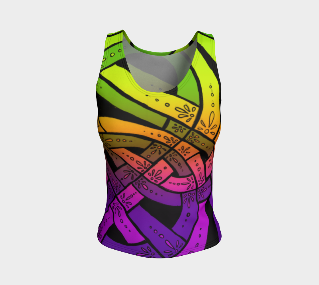 Blacklight Sherbet I I, Celtic Knot, Rainbow Ombre, Tank Top preview