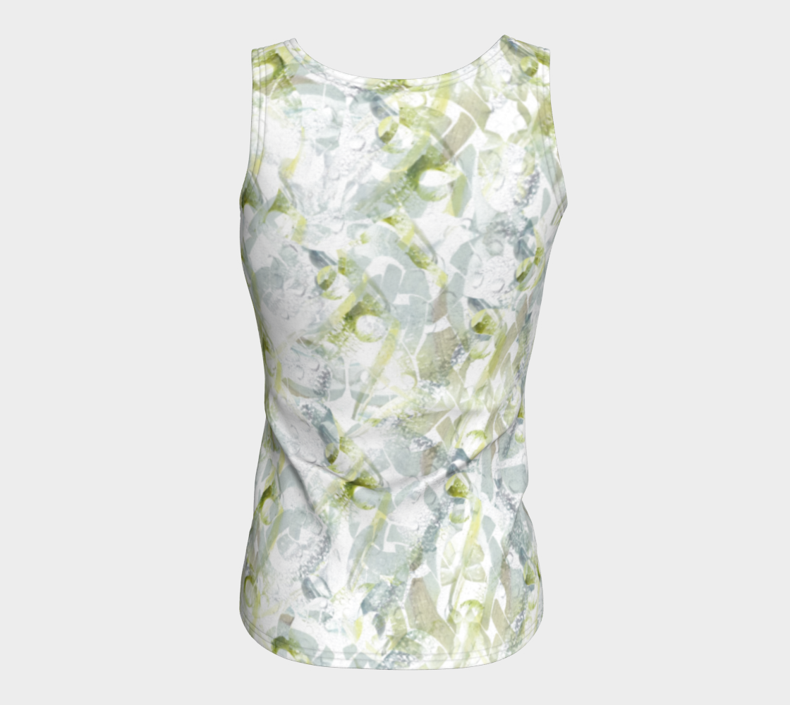 Spring Equinox Fitted Tank Top by Laura Davis Art Studio preview #6