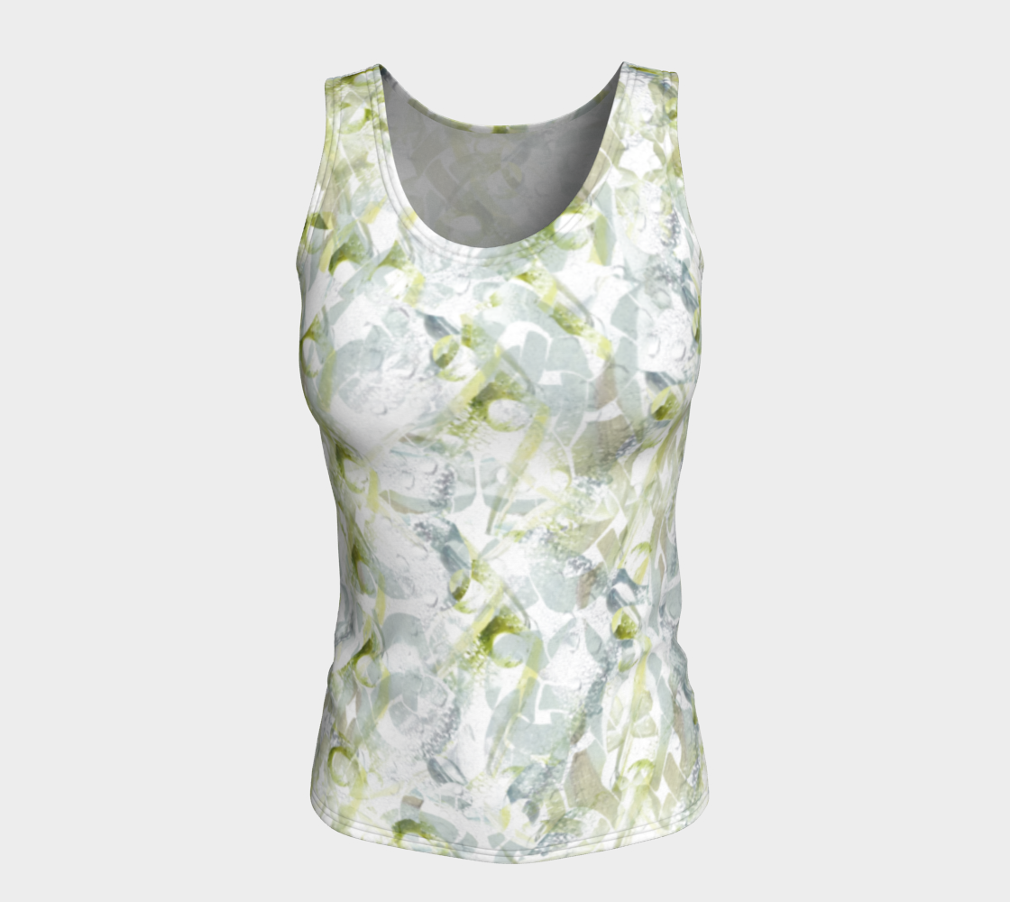 Spring Equinox Fitted Tank Top by Laura Davis Art Studio preview #5