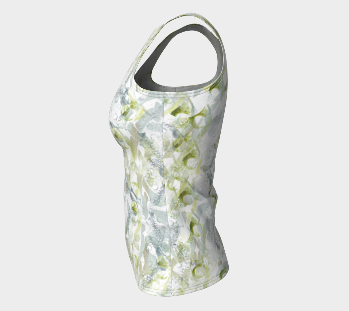 Spring Equinox Fitted Tank Top by Laura Davis Art Studio preview #7
