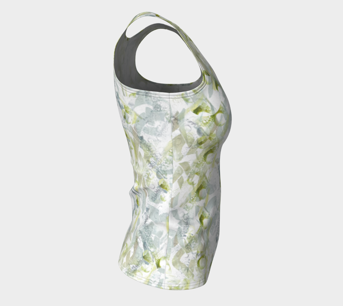 Spring Equinox Fitted Tank Top by Laura Davis Art Studio preview #8