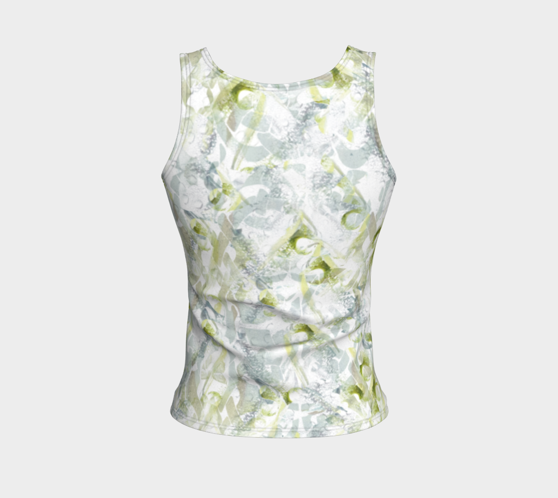 Spring Equinox Fitted Tank Top by Laura Davis Art Studio preview #2