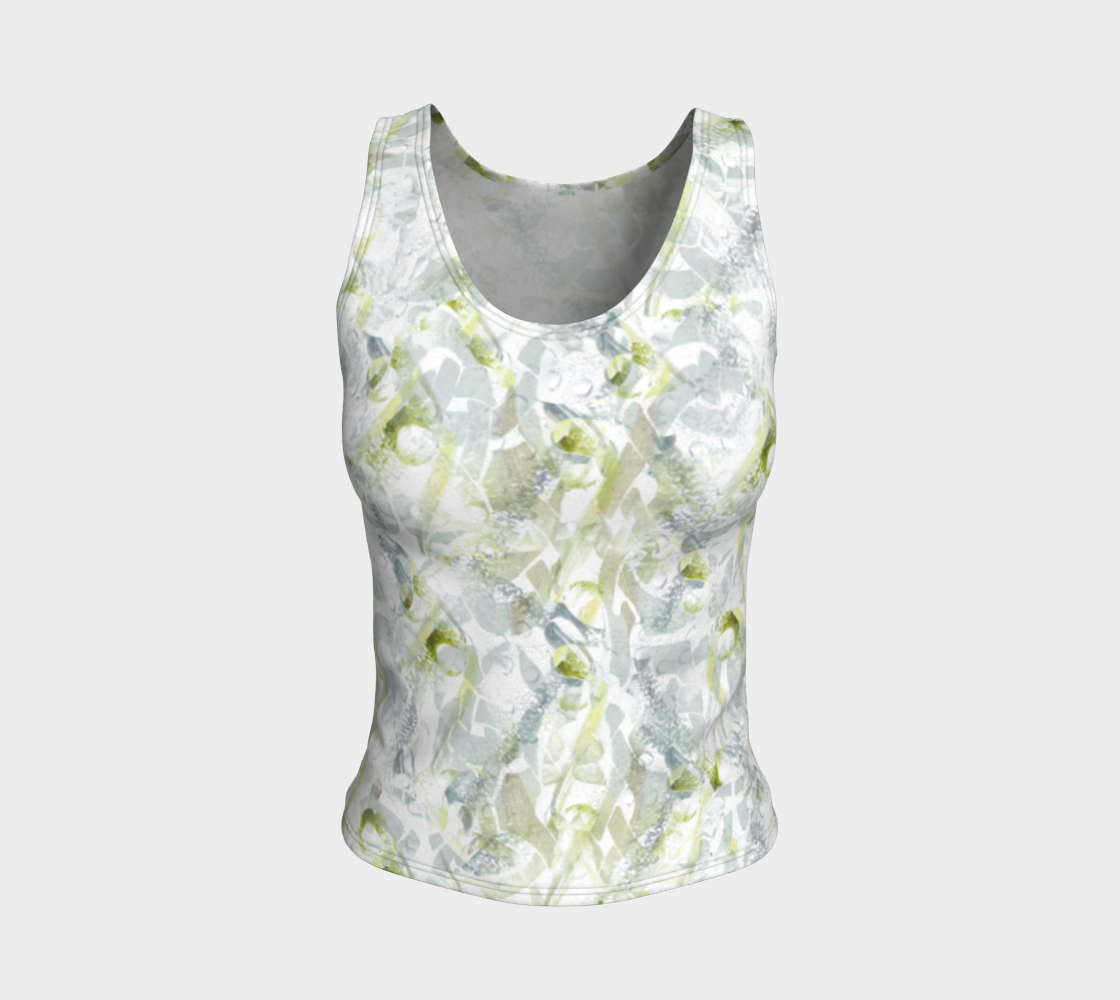 Spring Equinox Fitted Tank Top by Laura Davis Art Studio preview #1